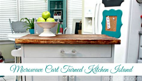 microwave cart turned kitchen island mom 4 real 301 moved permanently