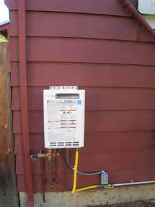 Mcnatt Plumbing Ta Fl by Tankless Water Heater Installed Outdoors By Todd