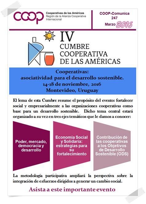 las cooperativas 2016 aumentos para las cooperativas 2016 iv cumbre cooperativa