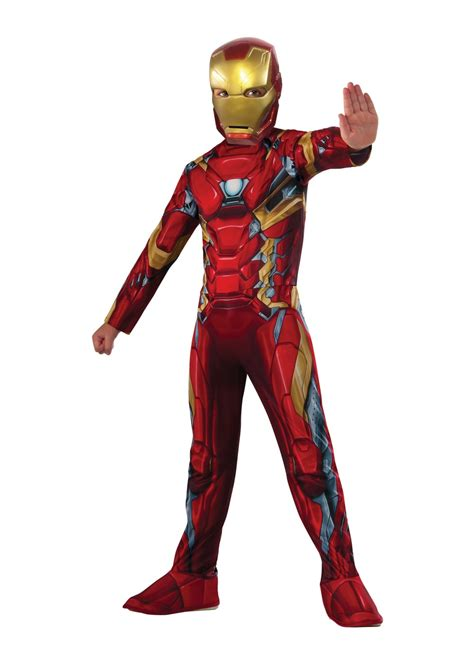 civil war iron man boys costume superhero costumes