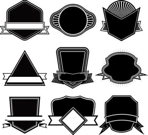 blank logo templates blank logo templates ribbon with labels blank template