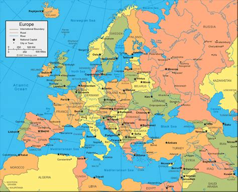 map of europe map physical map of europe europe political map geology