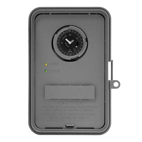 intermatic 40 auto volt industrial timer switch gray gm40av d89 the home depot