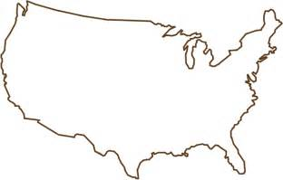 outline of united states map brown clip at clker