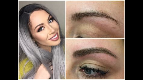 eyebrow tattoo before and after microblading eyebrow experience before and after