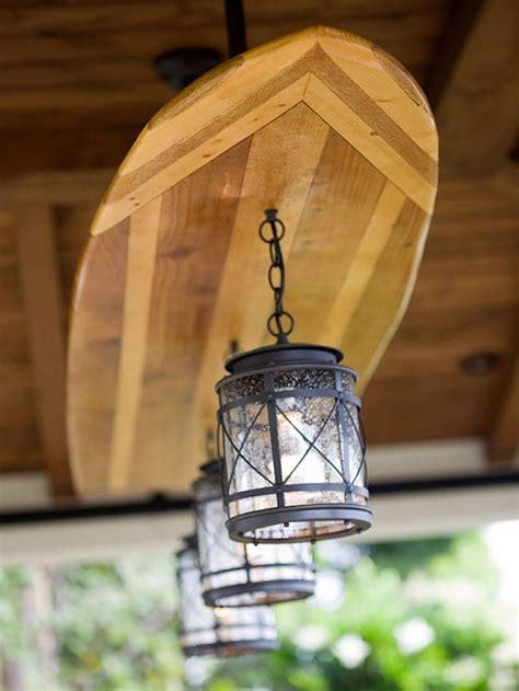 Patio Ceiling Lights Creative Wooden Surfboard Light Fixture Id Lights