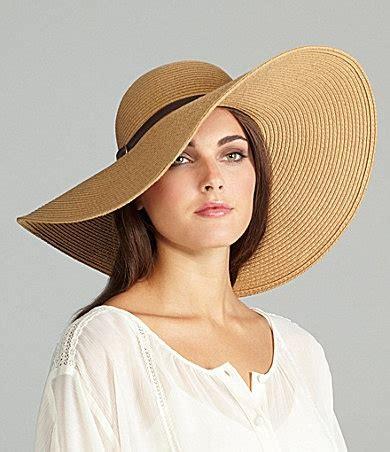 stylish kate landry wide brim floppy hat details