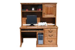 Computer Workstation Desk And Hutch Traditional Home Office Furniture Benefits