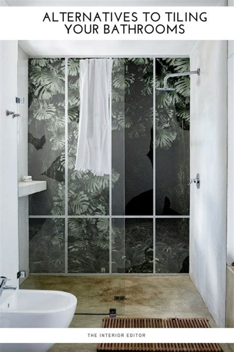 alternative wall coverings for bathroom alternatives to tiling your bathrooms waterproof