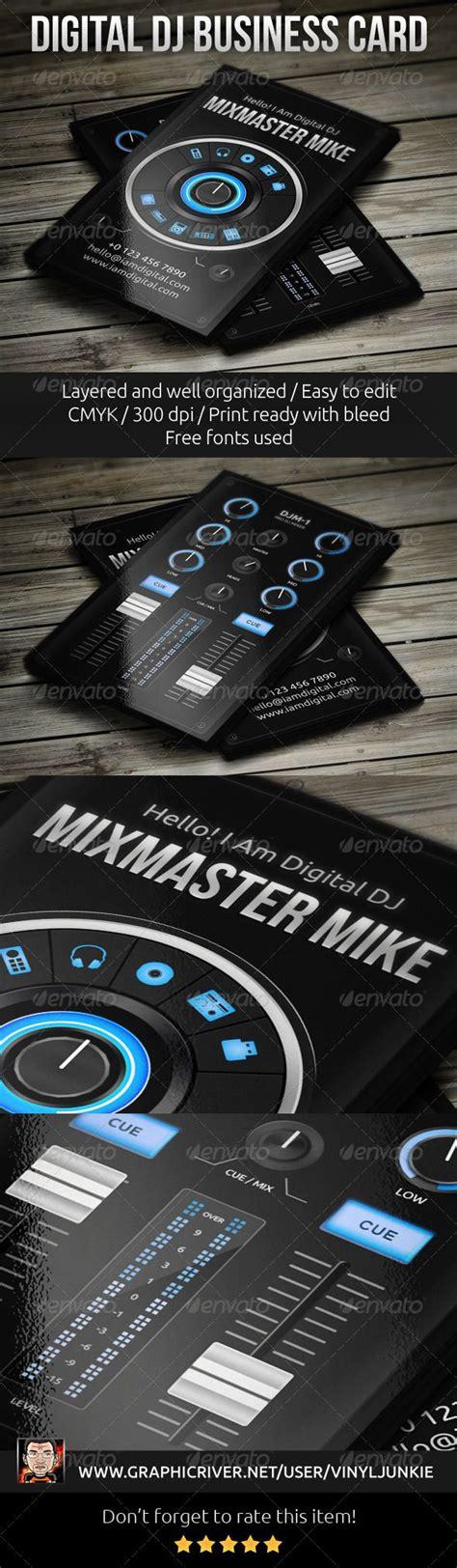 dj business cards templates free dj business cards templates psd choice image card design