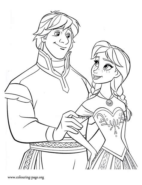 frozen coloring pages kristoff frozen princess and kristoff coloring page