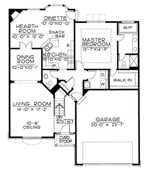 1350 Sq Ft House Plan Tudor Style House Plan 1 Beds 2 00 Baths 1350 Sq Ft Plan 20 1647