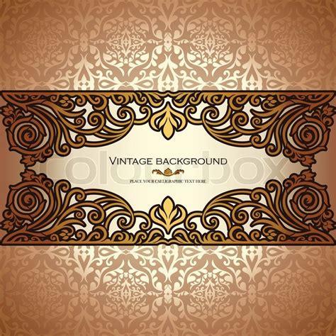 Vintage background, antique, victorian gold ornament