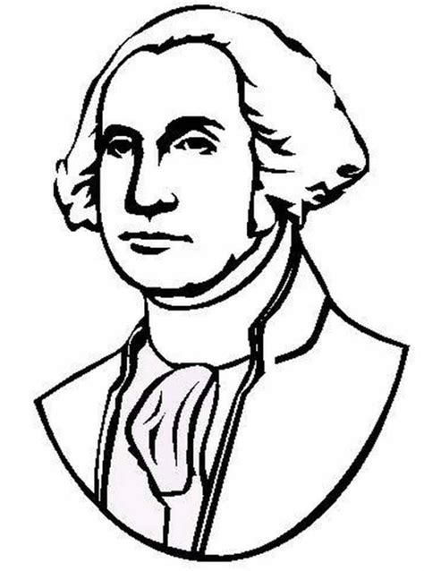 coloring page for george washington george washington the portrait of united states 1st