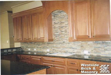 kitchen brick backsplash stone brick and granite westside brick masonry
