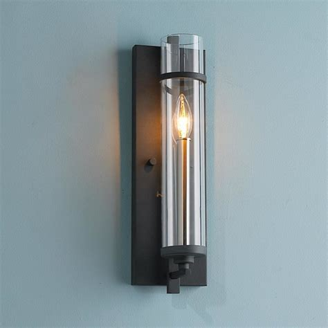 Wall Sconces Clearly Modern Glass Wall Sconce Wall Sconces By