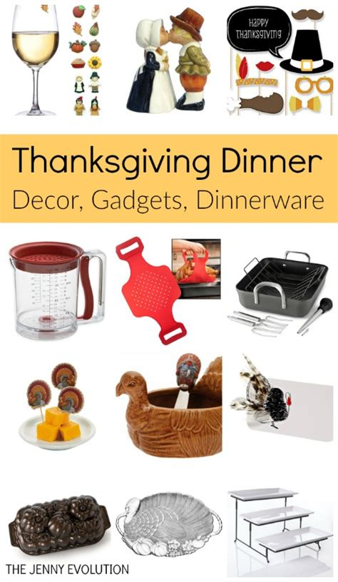 thanksgiving dinner items supplies table decor gadgets