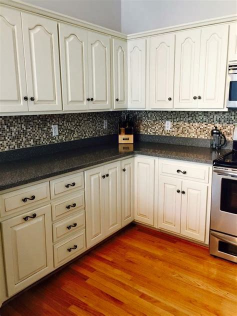 Kitchen Cabinets Stain Or Paint by Kitchen Transformation In Antique White Milk Paint