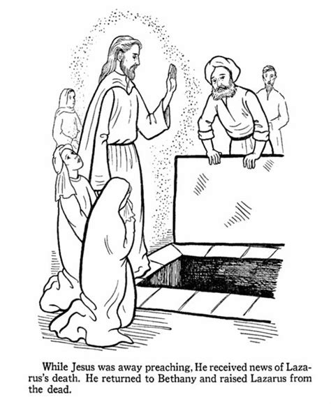 coloring page jesus and lazarus free coloring pages of jesus raises lazarus