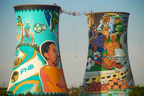 the orlando cooling towers in soweto south africa