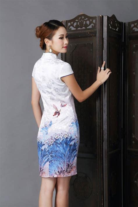 Sale Cheongsam Dress Imlek Cheongsam Import Baju Imlek Murah baju imlek cheongsam warna putih 2015 model terbaru jual murah import kerja