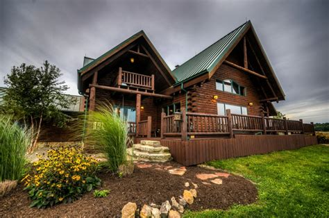 Log Cabin Rental Ohio by Coshocton Crest Lodge Ohio Luxury Log Cabin Rental