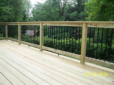 Banisters And Spindles Standard Deck With Pressure Treated Handrail Amp Black