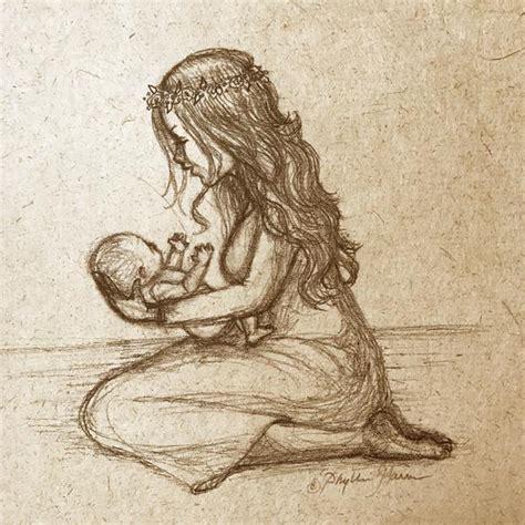 Handmade Sketches - newborn baby and sketch on handmade paper