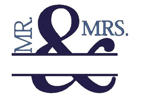 Mr Lettering by Mr Mrs Wedding Embroidery Design Instant