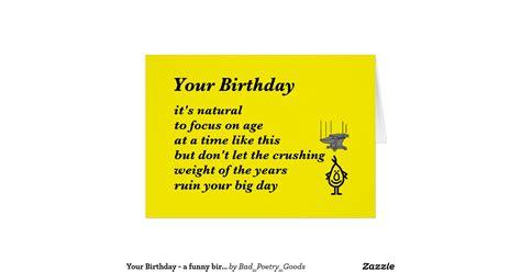 Birthday Card Poems For Your Birthday A Funny Birthday Poem Greeting Card