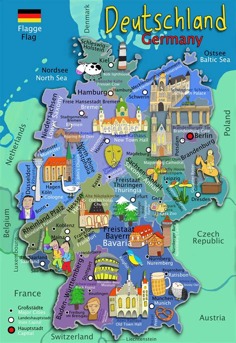 map of the germany kid s map of germany maps
