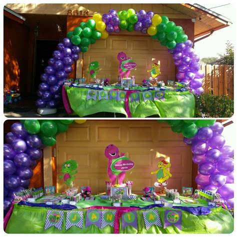 Barney Decorations by Barney Birthday Ideas Photo 1 Of 8 Catch