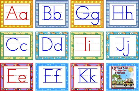 printable alphabet letters word wall kelly and kim s kindergarten kreations markdown monday