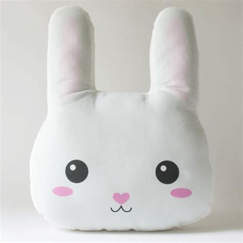 Rabbit Pillow by Trendspotting In Hop The Bunnies Project Nursery