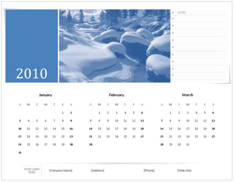2010 calendar template 2010 calendar templates for microsoft office 2007
