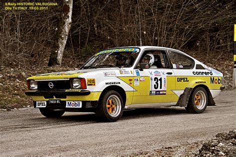 opel kadett rally car opel kadett gte 3 rally historic valsugana 19 03 2011