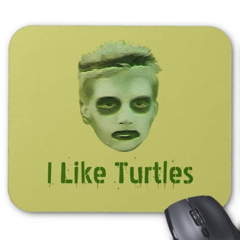 How To Decorate An Office by I Like Turtles Zombie Kid Mousepad Zazzle