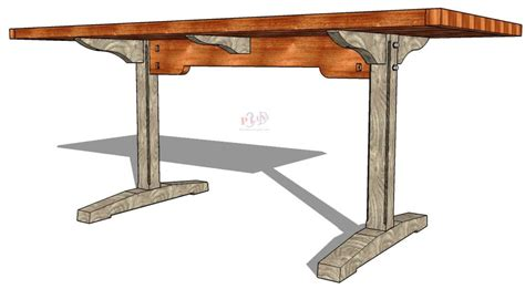 trestle table plans trestle table http 3dwoodworkingplans trestle