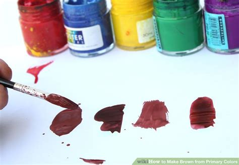 how to make brown from primary colors 6 easy ways to make brown from primary colors wikihow