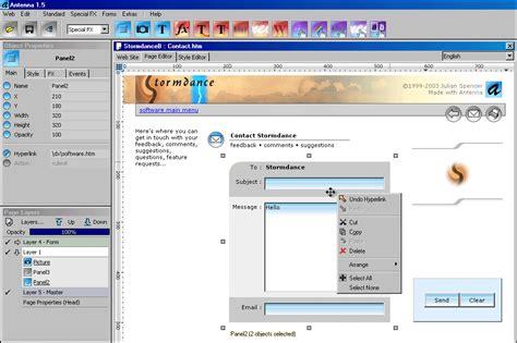 antenna web design studio 6 57 program indir programlar indir oyun indir