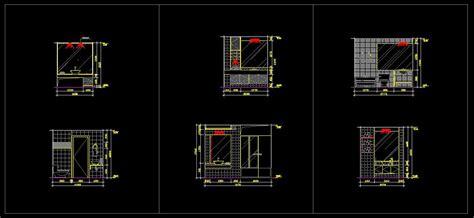 bathroom design templates 廁所設計模板圖 幸福空間室內設計cad圖庫 廁所設計模板圖