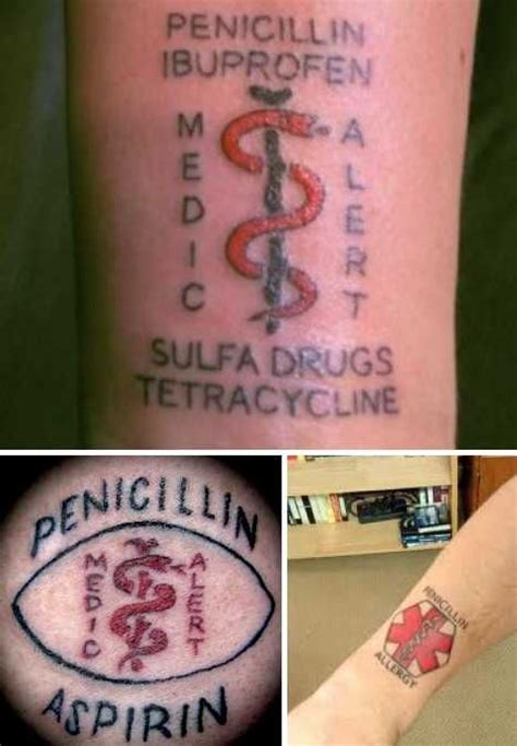 tattoo allergy 17 best ideas about alert on