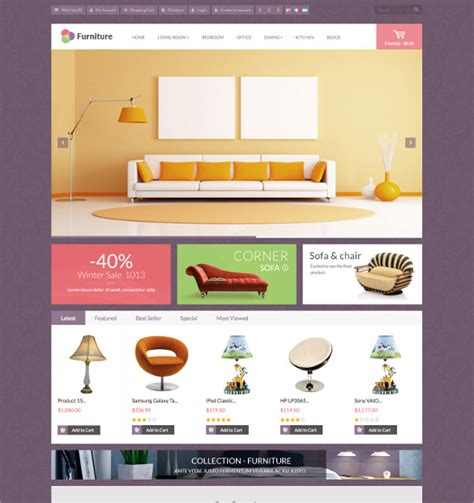 21 furniture opencart themes templates free premium