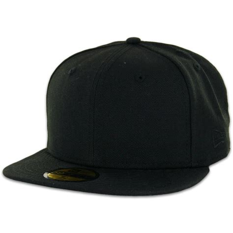 Baseball Hat Black new era plain blank black ne gray undervisor 59fifty