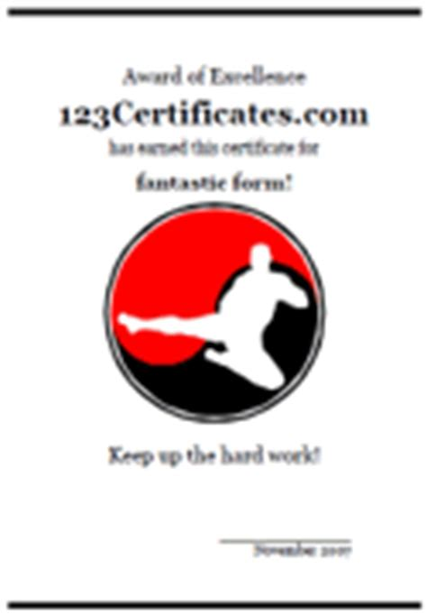 karate certificates templates free martial arts certificate templates and awards