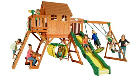 how to level yard for swing set oxford swingset with raised clubhouse multiple decks