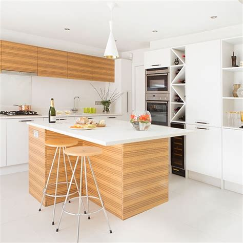 contemporary kitchen worktops contemporary wood kitchen with quartz worktop decorating