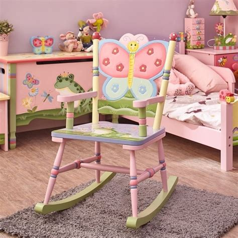 Fantasy Fields Hand Painted Magic Garden Rocking Chair W Magic Garden Rocking Chair