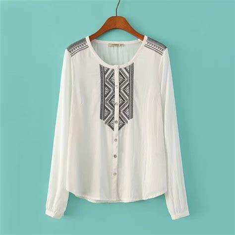 Blouse White Etnic blouse white shirt white blouse black embroidery ethnic embroidered embroidered shirt