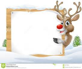 christmas reindeer sign stock vector image 45874849